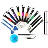 19 in 1 Handy Reparatur Werkzeug Set Schraubendreher Tool kit für iPhone 6 /6 Plus / 5S / 5C / 5/ 4S / 4, Samsung, iPad 4 / 3 /2 / Nokia Motorola Huawei Sony HTC