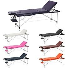H-ROOT 3 Sezione Massaggio Portatile in Massaggio Tavolo in Alluminio Tatoo Salon Reiki Healing Massaggio Svedese 12.75KG. (viola)