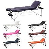 H-ROOT 3 Section léger Table de massage portable Canapé lit Plinth Thérapie Tatoo Salon Guérison Reiki suédois de massage 12.75 kg (violet)