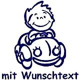 Babyaufkleber mit Name/Wunschtext - Motiv 3 (16 cm) - 20 Farben und 11 Schriftarten wählbar