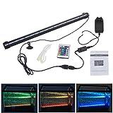 New 46CM RGB 18 LEDs 6W IR-Fernbedienung Fisch Teich Aquarium Lampe Unterwasser Pflanze Landschaft Beleuchtung Garten Pool Lampe LED-FL