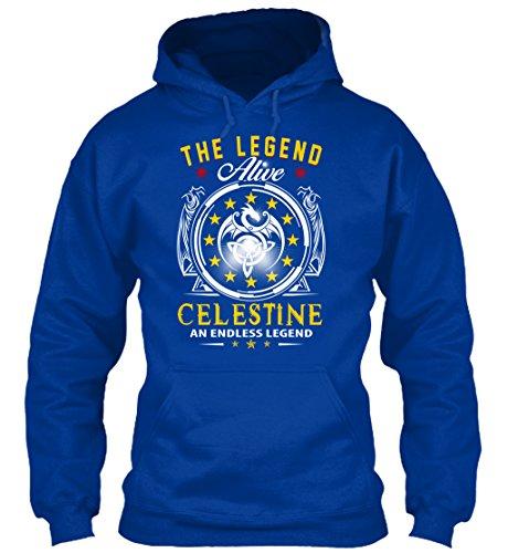 teespring Men's Novelty Slogan Hoodie - Celestine - The Legend Alive