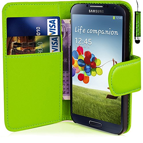 green-leather-flip-wallet-slim-case-cover-pouch-with-card-holder-for-samsung-galaxy-s4-and-stylus-pe