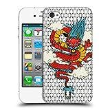 Head Case Designs Drachen Druck Modische Patches Ruckseite Hülle für iPhone 4 / iPhone 4S