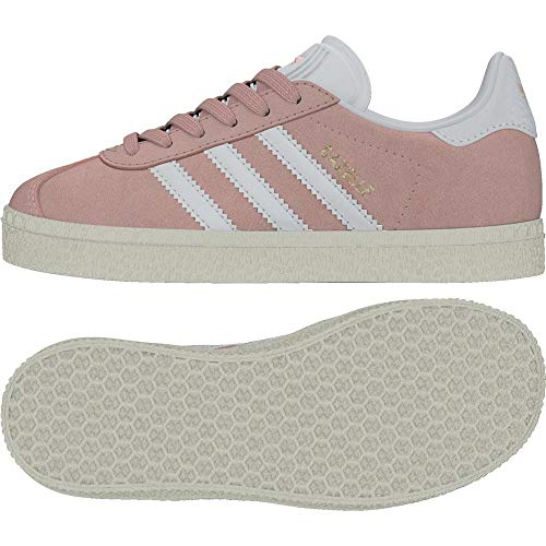 Adidas Jungen Gazelle C BY9549 Sneaker, Rosa (Icepink/ftwwht/Goldmt), 34 EU