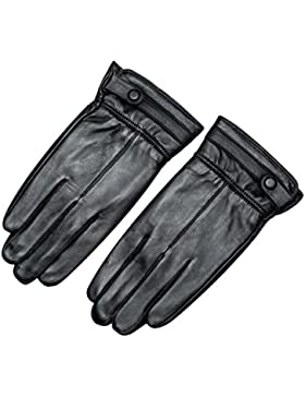 DIDIDD Guantes Men Self-Cultivation Ultra-Thin Warm,Negro,X-Large