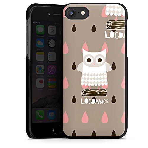 Apple iPhone X Silikon Hülle Case Schutzhülle Eule Holz Stamm Hard Case schwarz