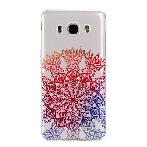 Voguecase® für Apple iPhone 7 4.7 hülle, Schutzhülle / Case / Cover / Hülle / TPU Gel Skin (Rosa Durchstochen) + Gratis Universal Eingabestift Bunt Blumen 12