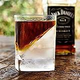 Homezone Whisky y Scotch Vidrio con Jugador de Hockey sobre Hielo Molde Cuña Ginebra Brandy Spirits Licor Bourbon Iced para Beber Vidrio Coctelería Vajilla Moderna Elegantes de Lujo Whisky Vasos