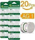 Act 20 x Alkaline Knopfzellen ohne Quecksilber AG1/LR60/LR621/364/1,5 Volt, 10er-Pack