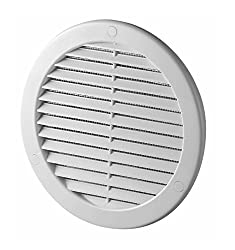 Circle Air Vent Grille Cover 150mm Ducting White Abs Plastic