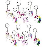 Feidiao Unicorn Dinosaur Key Chains Charm Bracelets Wristband Slap,DavonArt Unicorn Birthday Dinosaur Party Favors Supplies for Kids Girls Costume