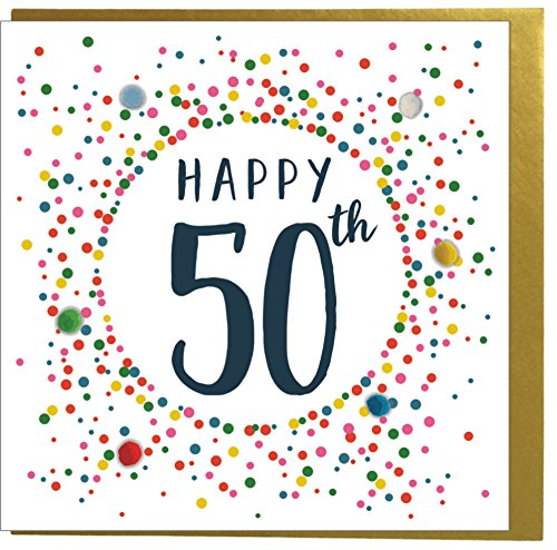 Happy 50th Celebration Card with Gold Envelope