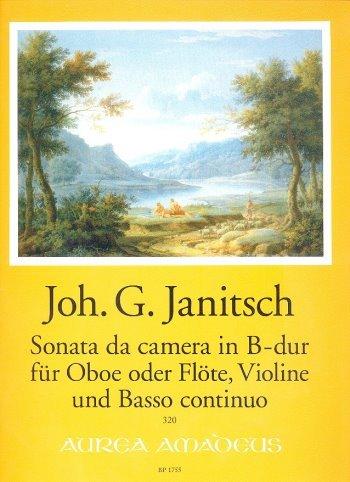 Preisvergleich Produktbild Sonata da camera B-Dur : für Oboe (Flöte),  Violine und Bc Partitur und Stimmen