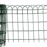 10 Meter Rolle Zierzaun Drahtgeflecht Maschenweite 150 x 80 mm Drahtstärke ca. 2 mm/3 mm mit grüner PVC-Beschichtung (Höhe 40 cm)