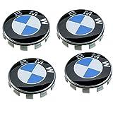 4Zentren Radzylinder BMW 68mm blau und weiß 68mm Cache Nabe Zentrum Abdeckkappen Logo Abkürzung