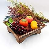 Hölzernes Handwerk Teak handgemachte Vintage Obstteller Woodcarving Candy Dish Hause Obst und Gemüse Gericht