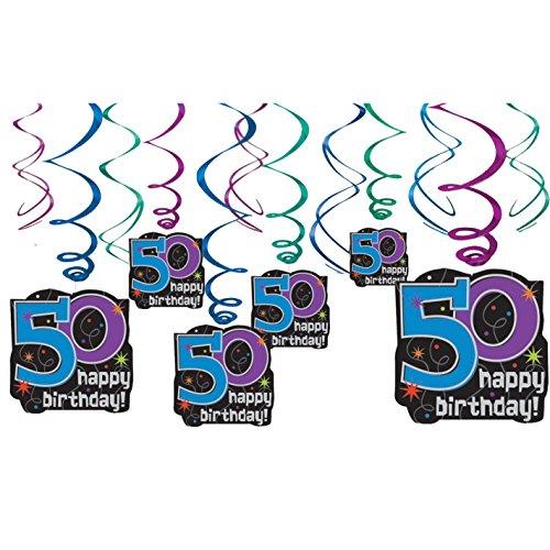 50th Birthday Swirl Decorations - Party Supplies (Halloween-kostüm Supply Store)