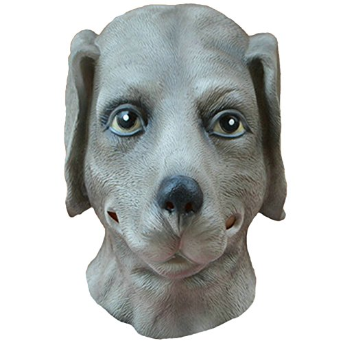 Queenshiny® Latex Tiermaske Halloween-Party-Kostüm (Labrador-Hund)