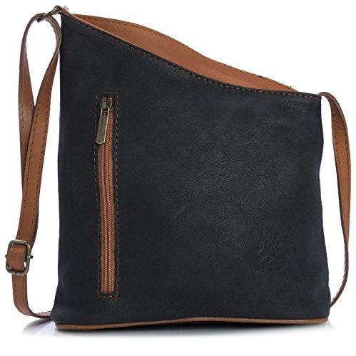 Sac à Main Boutique , Damen Henkeltasche one size, Schwarz - Noir - Bronzer - Größe:...