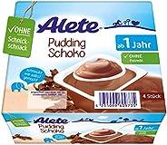 Alete Dessert Pudding Schoko, ungekühlt haltbar, ohne künstliche Aromastoffe & Palmöl, für Kinder ab dem 10. Monat, 1er Pack