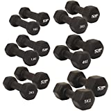 MiraFit Soft Touch Mini Hex Dumbbells - Choice of Size