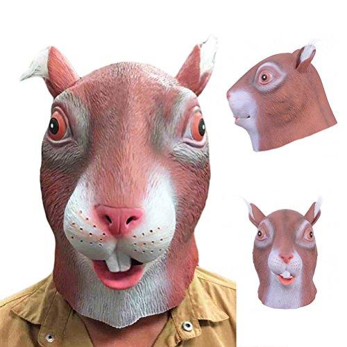 hörnchen Maske für Halloween Party Kostüm ()