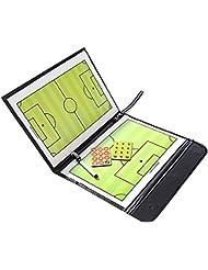 BEETEST Entrenador de fútbol magnética borrar seco borrable tablero estudiar estrategia ganadora Coaching mesa plegable portátil