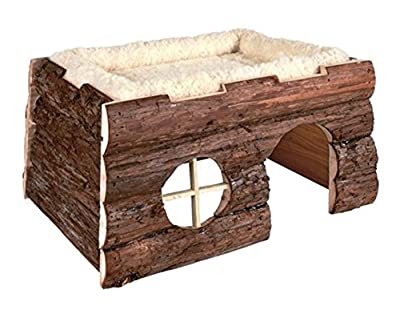 Trixie 6208 Natural Living Tilde Log House with Cuddly Bed 39 × 20 × 29 cm from Trixie