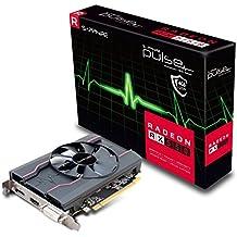 Sapphire pulso AMD Radeon RX5504GB memoria 128bits, GDDR5, DisplayPort/HDMI/DL-DVI-D PCI Express tarjeta gráfica–negro