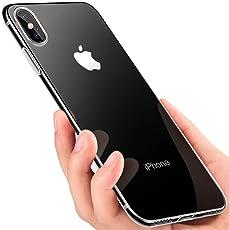 iPhone Xs Max Handyhülle , otumixx Crystal Schutzhülle iPhone Xs Max Silikon Hülle Ultra Dünn TPU Bumper Case Durchsichtige Anti-Shock Kratzfest Soft Hülle für iPhone Xs Max Case Cover - Transparent