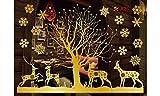 Comfot Weihnachten Elektrostatische Glas Aufkleber Gold Niedliche Schneeflocke Abnehmbare Fröhliche Weihnachts-Showshop-Fenster Dekor Aufkleber Weihnachtstage Dekorationen Ornament