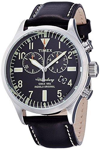 Timex Homme Chronographe Quartz Montre avec Bracelet en Cuir TW2P64900