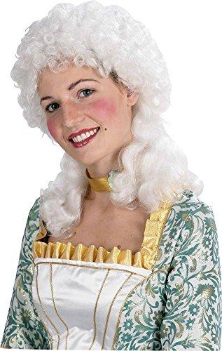 Karneval-Klamotten Rokoko Perücke Damen weiß Viktorianische Perücke Marquise Mittelalter Perücke