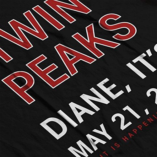 Twin Peaks Diane Its 2017 Women's Hooded Sweatshirt Black