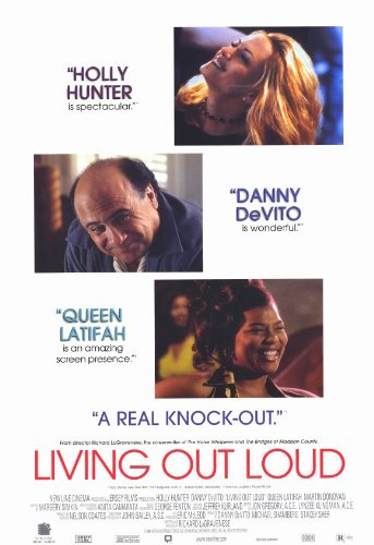 Living Out Loud poster film 11x 17in, 28x 44cm, Holly Hunter Danny DeVito Queen Latifah Martin Donovan Elias Koteas Richard Schiff