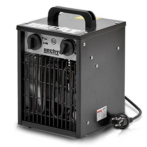 HECHT Heizlüfter 3502 Bauheizer Elektroheizung Elektro Heizgerät Heizkanone mit 3000W