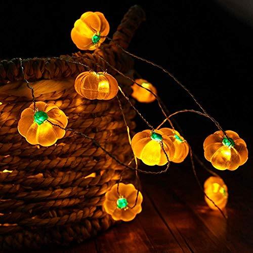 YANQ Halloween Kürbis String Lights Batterie Angetrieben Fee Lichter für Indoor, Outdoor Festival Dekoration
