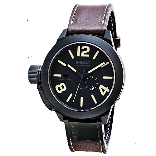 U-Boat Classico Automatik Uhr, Keramisch, Schwarz, 48mm, 8107