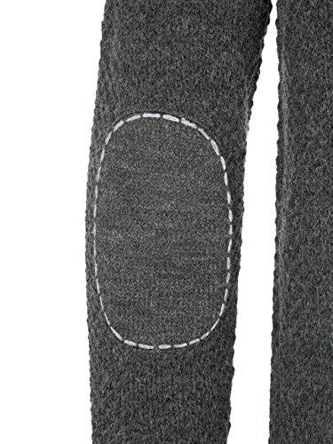 Almbock Strickjacke Tracht Anthrazit Grau | Strickjacke Herren l mit Reißverschluss | Trachten Strickjacke Herren in Anthrazit Grau Größe L - 4