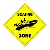 Dejeuner Crossing Sign Zone Xing |-| 30,5cm Hoch Boot Yacht Ocean Anker Seil Line