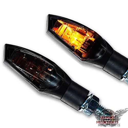 Halogen Mini Blinker Nova Motorradblinker schwarz smoke getönt Halogenblinker