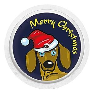 51nIwUGr59L. SS300  - 2x Christmas Dackel - Sticker Aufkleber für FreeStyle Libre Sensoren