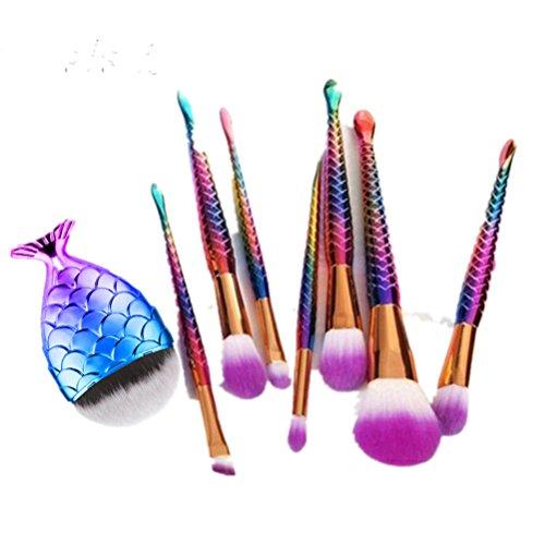 Xshuai 8PCS Beruf Puder Stiftung mischen Make-up weichen Pinsel Augenbraue Eyeliner Blush Concealer Pinsel (Mehrfarbig)