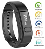 ArVin Smart Fitness Tracker Bracelet Bluetooth V40 Intelligent Step Tracker Calories Tracking Health Sleep Monitoring Call ID Reminder Wrist Bands Wristwatch Compatible For Iphone And Android