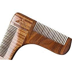 ✮ Peine contorno y líneas de la barba–Baristaweb ✮ Calidad Prémium de madera– Incluye bolsa–Para hombres moderns y de tendencia que quieren dar un toque de estilo a su barba.