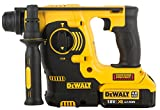 DeWalt DCH253M2-QW Marteau perforateur SDS-Plus 3 modes 18V - Travaux de burinage légers - 2 batteries 18V Lithium-ion 4 Ah - Vitesse à vide 0-1200 tr/min - Energie de frappe (EPTA 05/2009) 2,1 J - Chargeur Multi-voltage - Poignées latérales multipositions - Mallette de transport haute résistance