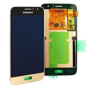 Original Samsung Galaxy J1 (2016) J120F J120 AMOLED LCD Display Touchscreen Digitizer Einheit Gold OCTA GH97-18224B