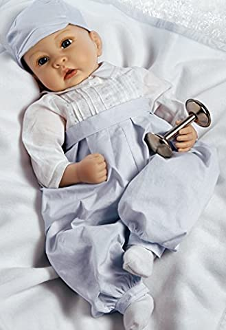 Paradise Galleries Prince George Baby Doll, Royal Baby Prince, 22 inch in Silicone-like Flex Touch Vinyl