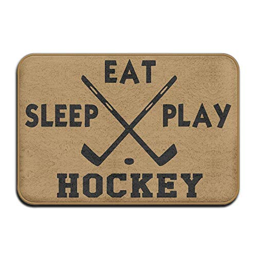 PdGAmats Eat. Sleep. Play Field Hockey Non-Slip Indoor/Outdoor Doormat 23.6